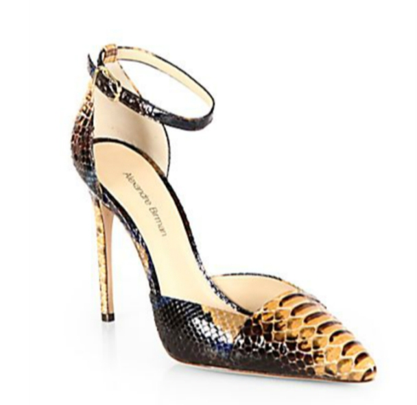 Gorgeous Python Ankle Strap Shoes - available online at Saks.